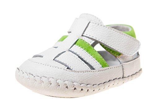 Little Blue Lamb Chaussures souples bébé Sandales 3515Blanc Vert