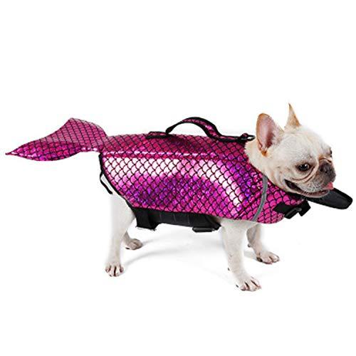 LOVEPET Haustier Badeanzug Hund Drehte Sich Um Meerjungfrau Haustier Schwimmweste Haustier Hundekleidung