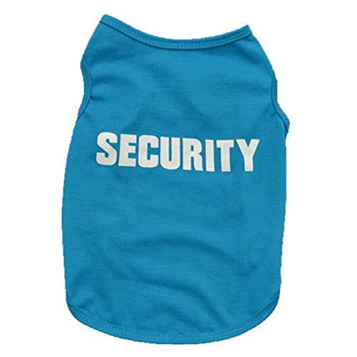 Hawkimin Haustier T-Shirt Security Hundekostüm Weiches und Bequemes Hundeshirt für Kleine und Mittlere für Welpen und Katzen - Halsband Leder Auto Mantel