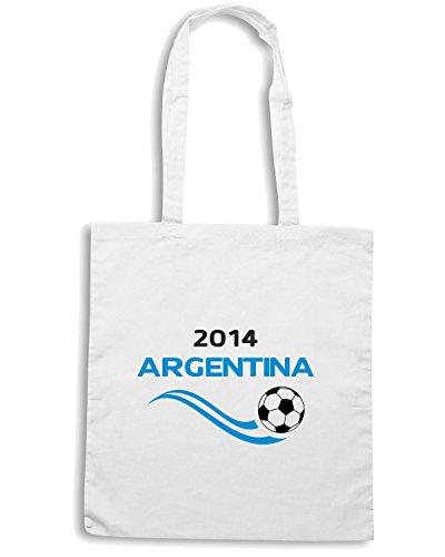 T-Shirtshock - Borsa Shopping WC0021 ARGENTINA Bianco