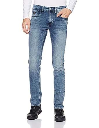 US Polo Men's Skinny Fit Jeans (UDJN0210_Blue_30W x 33L)