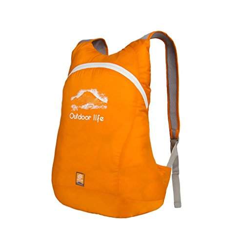 Unimango Ultra Leggero Packable pratico zaino da viaggio impermeabile zaino esterno borsa a tracolla 14L, Blue, 14L Yellow
