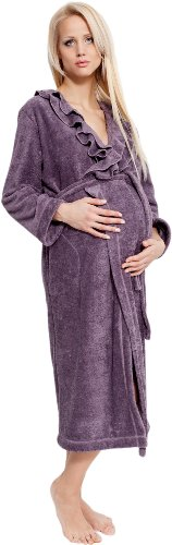 L&L Vêtements de Maternité Robe de Chambre Sophie Long Mama Violet