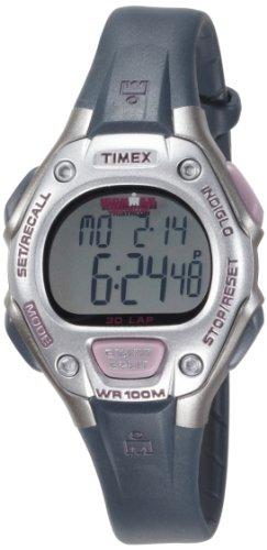 Timex Ironman 30 Lap T5K411 – Reloj de mujer de cuarzo, correa de caucho color negro