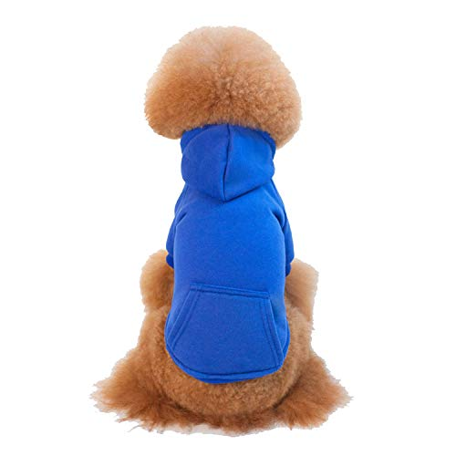 JYMDH Pet Dog Coat Welpen Kleider Hoodies Cat Sweater Kostüm,Blue,XS