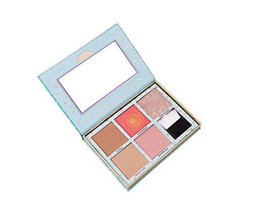 Stayeal Highlighter Palette de maquillage 5 couleurs avec poudre et pinceau