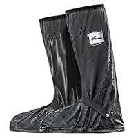 Sportout Waterproof Shoe Cover, Cycling Overshoes with Elastic Strip And Zipper, Slip Resistance Galoshes, Rain Boots Over Shoes, Wind Proof And Water Resistance PVC, Men And Women