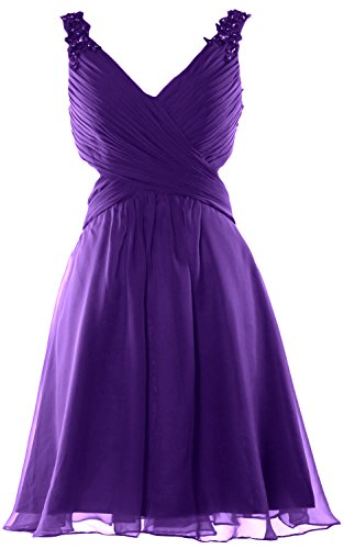 MACloth - Robe - Cocktail - Sans Manche - Femme Violet - Violet
