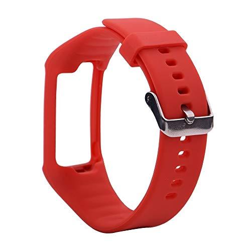 LUOFUSHENG Smartwatch-Uhrenarmbänder Silikon-Sporthandgelenksschlaufe for Polar A360 / A370 (Schwarz) Ersatzarmbänder (Farbe : Red)