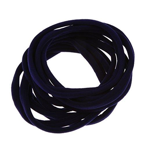 MagiDeal Zubehör für Haarfrisuren, für Frauen, Mädchen, 10 Stück, 8cm, verschiedene Farben, elastische Haargummis, Bänder, Strick, Pferdeschwanzhalter, Stirnband, Zopfband - Navy blau (Frauen 8. März)