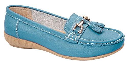 Foster Footwear , Herren Mokkasins Blaugrün
