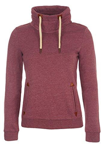 DESIRES Liki Tube - Sweat-Shirt - Femme Wine Red Melange
