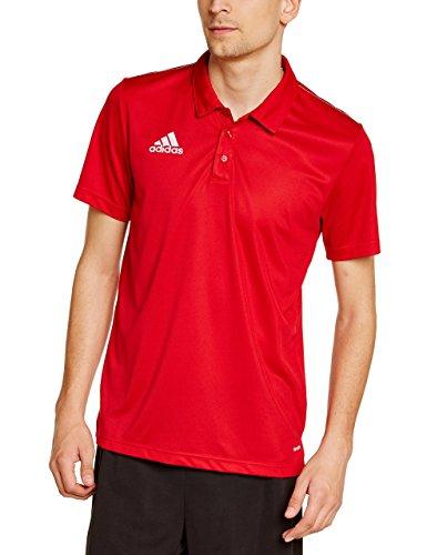 adidas Herren Coref cl polo, power rot/Weiß, L, M35320 (Rot Adidas Polo-shirt)