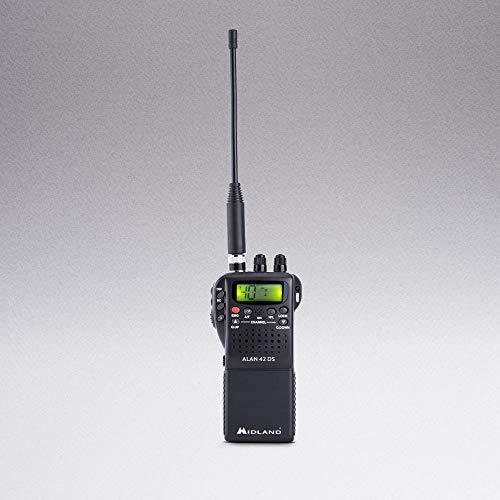 Midland Alan 42 DS, CB-Handfunkgerät mit digitalem Squelch und umfangreichem Zubehör für jedes Einsatzgebiet. 4W AM/FM