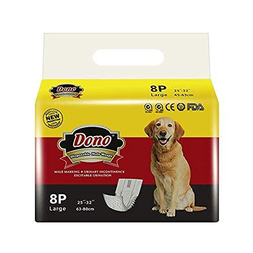 Pañales para perros desechables DONO Paños para perros machos Pañales para mascotas...