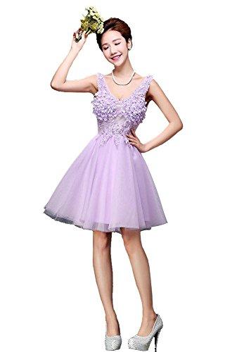 Beauty-Emily -  Vestito  - linea ad a - Senza maniche  - Donna Viola