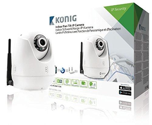 König SAS-IPCAM110W Caméra IP de télésurveillance d'intérieur avec fonction de panoramique/inclinaison Blanc