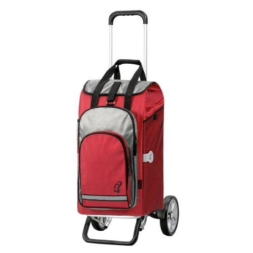 Andersen Shopper Alu Star und 60 Liter Einkaufstasche Hydro rot mit Kühlfach