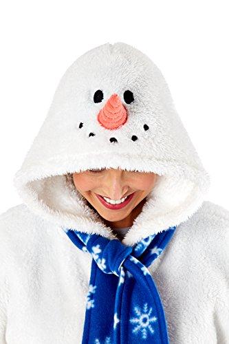 Femmes 3D Onesie De Noël femmes Renne Bonhomme de neige Tout En Un Capuche Vêtement de loisirs Bonhomme De Neige - Combinaison