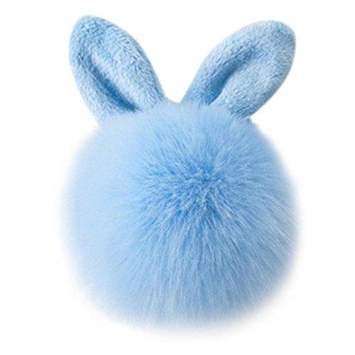 Fami Donne Pelliccia del coniglio sfera Portachiavi Bag Plush Car Key pendente dell'anello chiave auto BU
