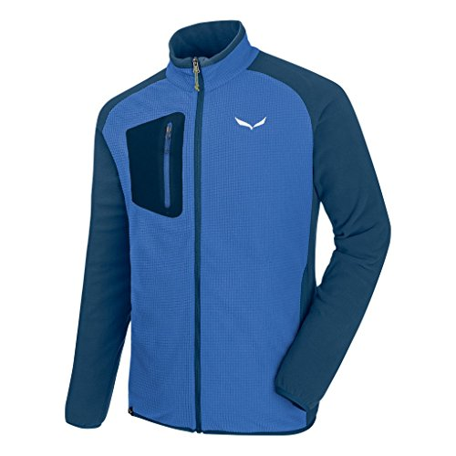 SALEWA Herren Puez Plose 4 Polarlite Full-Zip Fleecejacken, Blau Royal blue/8960