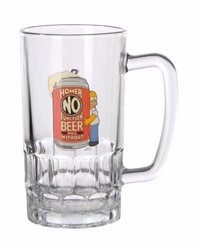 Simpsons Beer Glass Homer No Function