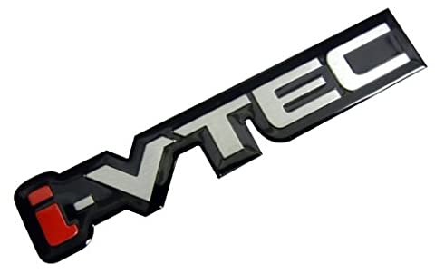 i-VTEC Silver Red Black Engine Aluminum Emblem Badge Nameplate Decal Logo Rare for Honda Acura Civic Si RSX - Honda Civic Si Vtec