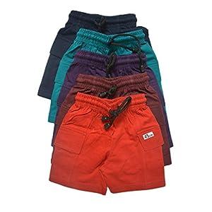 Mysilk Saree Boy's Pure Cotton Half Pants – Pack of 5