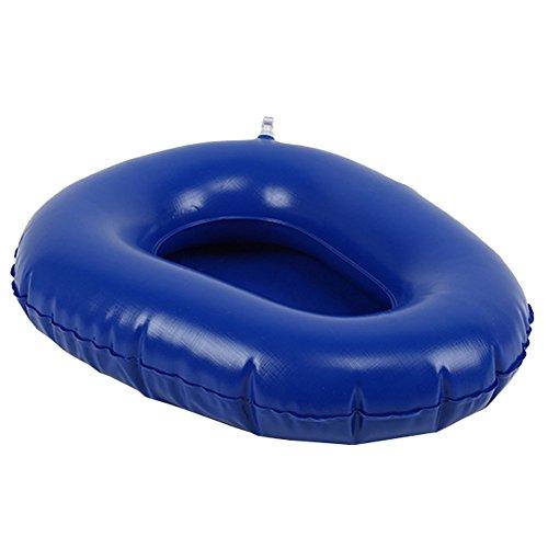 Wgwioo Toilette Bettpfannen-Luft-Inflation-Bett Pfannen Badezimmer-Bettlägerige Aufblasbare Kissen-Töpfchen-Waschbare Tragbare Ältere Personen,Blue,1Pcs