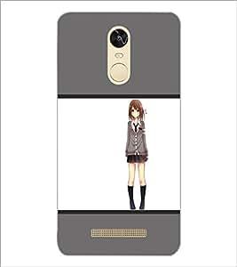 PrintDhaba Lovely Girl D-1415 Back Case Cover for XIAOMI REDMI NOTE 3 (MEDIATEK) (Multi-Coloured)