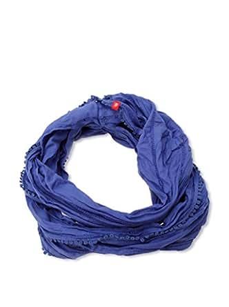 edc by ESPRIT Damen Schal 014CA1Q001, Gr. one size, Blau (421 BRISTOL BLUE)