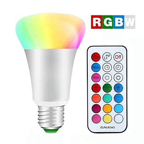 Minger 10W Ampoules LED RGBW (Rouge Vert Bleu et Blanc)...