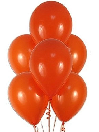 EVISHA HD Latex Big Size Orange Metallic Latex Balloons/Party Decoration/Theme Party/Birthday Party Decoration(Set of 50)