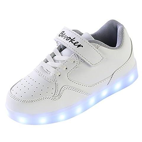 Bevoker Leuchtende Schuhe Kinder Jungen Mädchen Sneakers mit LED Kinderschuhe Unisex