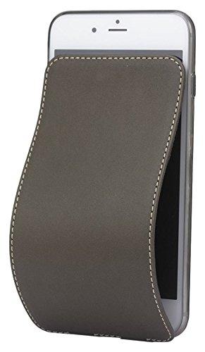 Marcel Robert - iPhone 8 PLUS Lederhülle - GRÜN KHAKI  Kalbleder aus Frankreich - ultradünn, weiche magnetisierte Schnalle - mit Wischtuchfunktion - Reinigung vom Display - patentiertes Model - siehe Demovideo (Khaki Plus)