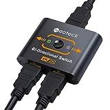 Neoteck HDMI Switch bidirektionale 2160P 4K 2 Anschlüsse HDMI Switcher 2 Eingang auf 1 Ausgang 3D HDMI Splitter Plug and Play für Fire TV Stick PS3 PS4 Apple TV HDTV Blu-Ray DVD-Satelliten DVR Xbox