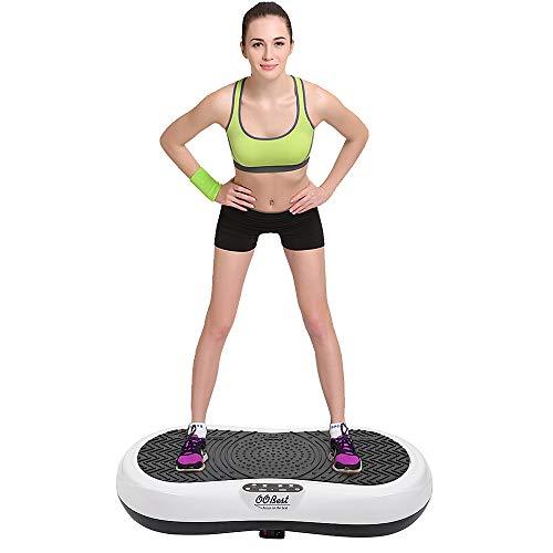 Flyelf Profi Vibrationsplatte,Fitness Vibrationstrainer,200 Watt Vibration Plate Mit Fernbedienung