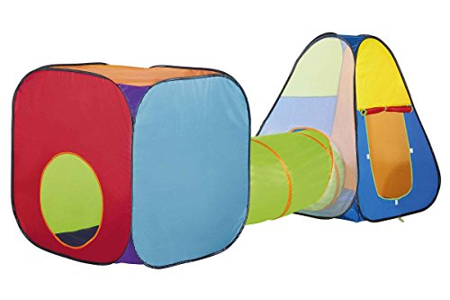 Playtive Spielzelte mit Tunnel Pop up Indoor Outdoor Zelt Tipi Kinderzelt