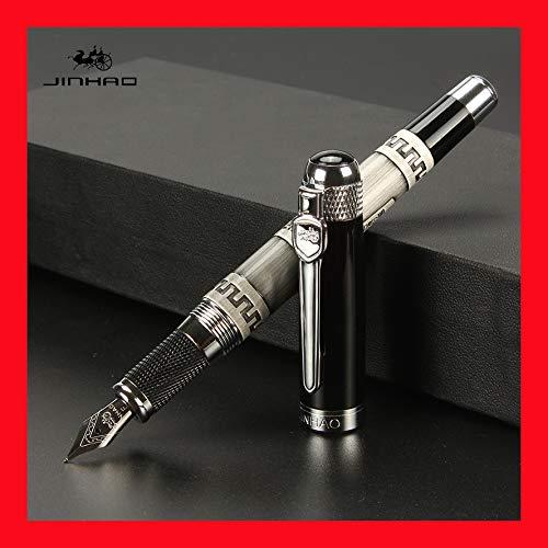 Jinhao 189 Silber Antik Füllfederhalter Luxus 18 KGP Medium Nib kalligraphie füller