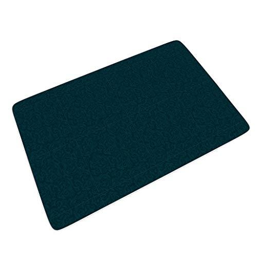 O2ECH-8 4 Größen Flower Teppich rutschfest Innen & Außen Schlafsaal Verwenden - Flower für Halloween-Dekor White 45x75 cm
