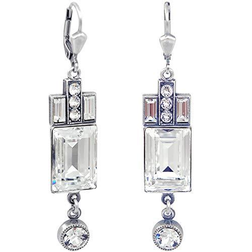 Artdeco Ohrringe Swarovski® Kristalle Silber NOBEL SCHMUCK