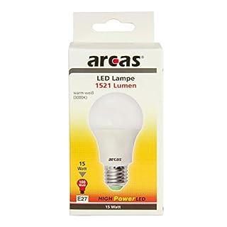 Arcas 39720019 LED Leuchtmittel, Glas, 15 W, E27, weiß, 10,9 x 6,0 cm