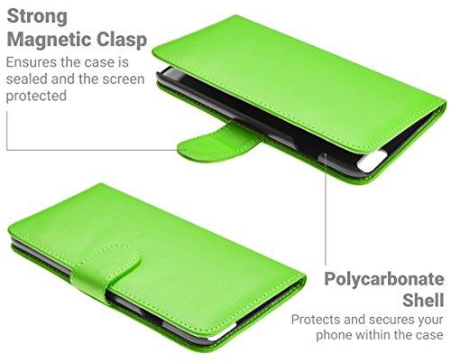 iPhone 6 Plus / 6S Plus Hülle Leder Klapphülle mit Kartenfach GizzmoHeaven Schutzhülle Tasche Flip Case Cover Etui Handyhülle für Apple iPhone 6 Plus / 6S Plus mit Displayschutzfolie und Stylus-Stift  Grün