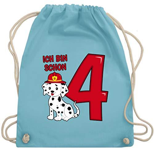h bin schon 4 Feuerwehr Hund - Unisize - Hellblau - WM110 - Turnbeutel & Gym Bag ()