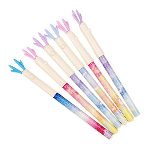 Kentop 6Pcs Neuheit Kugelschreiber Elch Gelschreiber Schulbedarf für Basteln Schreiben Zeichnen -