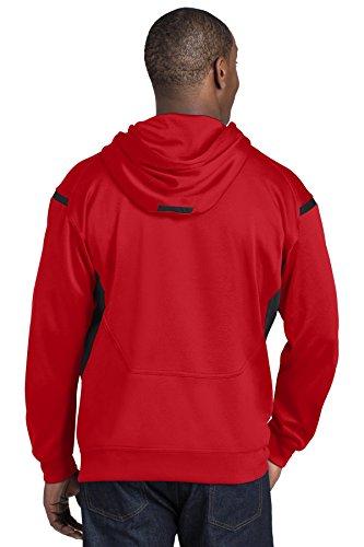 Sport-Tek -  Felpa con cappuccio  - Uomo True Red/Black