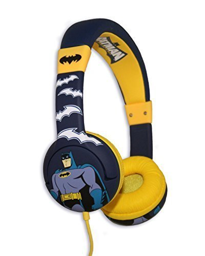 Batman 'The Brave And The Bold' Themed Kids Childrens Multi Colour Headphones Best Price and Cheapest