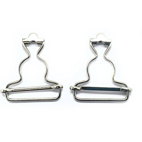 Custom Gürtel-schnalle (Trimmen Shop 53mm x 42mm Silber-Metallschnallen, Schnappclips zum Reparieren von Kleidung oder maßgefertigten Kleidern, große Befestigung von Latzhosen, Lätzchen und Schiebern, 2er-Set)