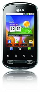 LG P350 Optimus Me Smartphone (7,11 cm (2,8 Zoll) Display, Touchscreen, Android OS, 3 Megapixel kamera) silber