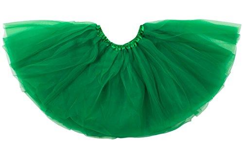 Kostüm Tinkerbell Freunde - Dancina Mädchen Tüllrock Tutu Ballettrock Classic 2-7 Jahre Grün